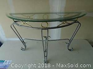 Hall / Sofa Glass Table with Metal Frame