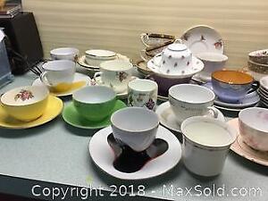 Large China Tea Cup Saucer Lot A