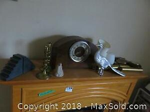 Clock, Barometers, Bookends And More A