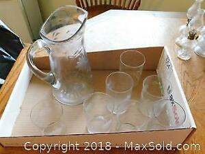 Cornflower Glasses And Pitcher A