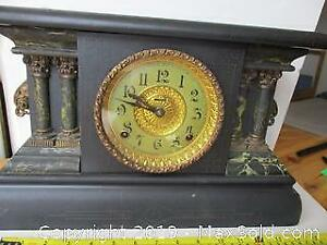 1920, Adrian Model, 8 Day, Gonging Mantle Clock, By E. Ingraham Company USA.