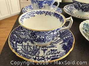 Collection Of Blue Tea Cups