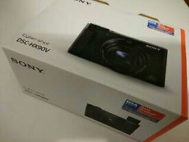 New Sony Cyber-shot DSC-HX90V 18.2MP Digital Camera - Black. GPS
