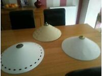 'THREE UMBRELLA / UPSIDE DOWN CEILING SHADE'S WITH FITTINGS