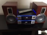 Home Theatre system silver stereo