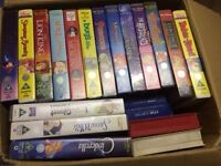 Over 100 VHS video tapes