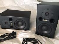 Fostex PM1 Active Bi-Amped Professional Studio Monitor Speakers (the pair).