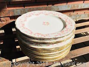 Vintage Bridal Rose Pattern Fine Bone China Plates Lot