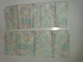 Curtains, quality custom made, 2 pairs, lined, 8'x4'+4'x3', like new.