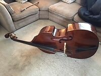 3/4 Double Bass, Stentor Student 2, excellent condition