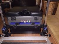 Fishing Seat Box with footrest and side tray