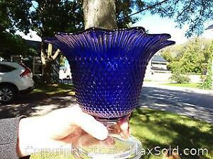 Cobalt blue footed vase