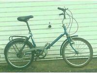 Vintage fold up bike