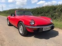 Triumph Spitfire 1500 Classic Car. Hard Top. New Soft top.Beautiful red coachwork.MOTMar18