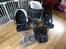 Britax B-Smart 3 Complete Travel System (Black)