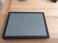 4 black glass glitter placemats, coasters and brand new napkins. Original cost £104.00
