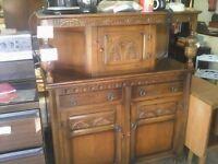 lovely old charm, oak court cupboard