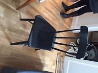 4 BLACK WOODEN CHAIRS