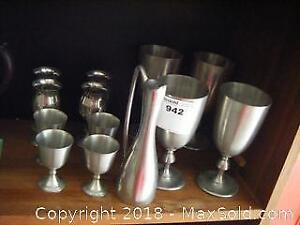 Pewter Goblets A