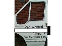 VW MERCEDES FORD VANS DAMAGED WANTED any age/condition