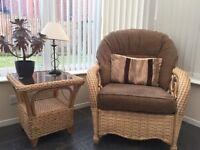 Cane Conservatory Furniture Set