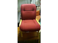 Red Padded Reception Chairs