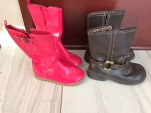 Toddler Girls' Spring Boots size 9 & 11