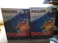 23 Philips dvd+rewritable discs all blank and sealed 50p each or all 23 for £10