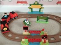 Happyland Train set, driver, passenger and car