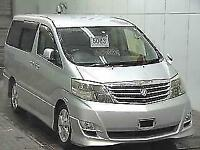 Toyota Alphard 2.4 silver petrol automatic 4wd 8 seater MPV jap import only 42k