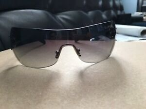 50cb3c8b3b11 Tiffany   Co. Swarovski Crystal Logo Black Shield Sunglasses