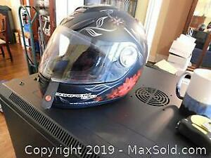 Black Scorpion EXO Motorcycle Helmet A