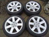 "17"" 225 45 17 set Alloy Wheels and Tyres RENAULT TRAFIC VIVARO VW T5"