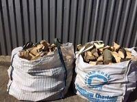 LOGS! SEASONED HARDWOOD! £50 dumpy, £10 large 40 ltr nets, crate £110, trailer £180 (beech ash,oak)