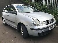 VW Polo 2003 1.2 Petrol 5dr Silver Breaking For Spares