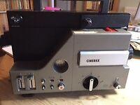 Vintage Cinerex Super 8mm sound movie projector; needs new lamp and drive belt