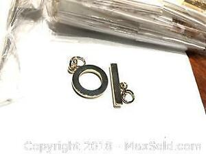 80 Sets Gold plated Toggle Clasp With Chains