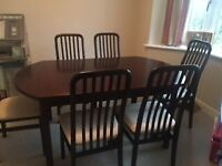 Tapley dining room table and 6 chairs