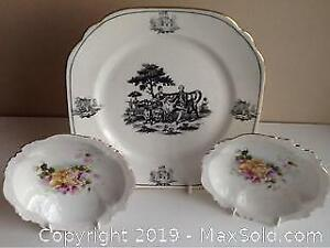 Vintage English Plate And Antique German Bowls