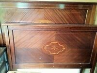 Beautiful inlaid rosewood chest of drawers and bedstead