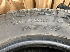 35 x 12.5 x 20 Goodyear MT/R Kevlar Sidewall Tires