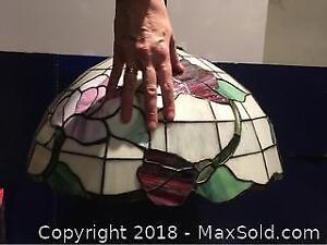 Tiffany Style Stained Glass Giant Ceiling Lamp