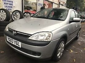 Vauxhall Corsa 2003 1.2 Petrol Silver 5dr Breaking For Spares