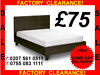 NEW FAUX LEATHER BED £75 OR WITH ORTHOPEADIC MATTRESS £150 BLACK OR MOCCA BROWN ALL SIZES -call--0755-083-1111--free Same Day Delivery--factory-stock-clearance-sale--, London