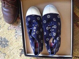 Women's navy tennis shoes by Bensimon - Size UK 4 / EU 37