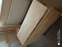 John Lewis Wood Dining Table and 2 Chairs