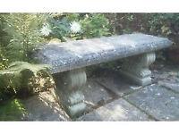 Stoneware garden bench/seating seat.