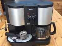 KRUPS coffee machine - filter and espresso