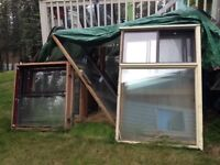 Windows for sale, perfect for cabin or greenhouse