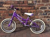 EXCELLENT - Cuda Blox 16″ Girls Bike (5-8 yrs)